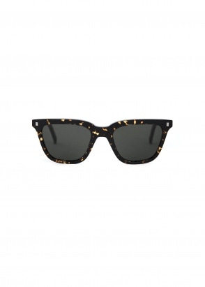 Monokel Eyewear Robotnik Sunglasses - Brown Tortoise With Solid Green Lens