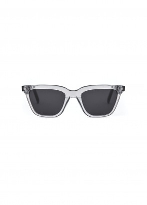 Monokel Eyewear Robotnik Sunglasses - Clear Grey With Solid Grey Lenses