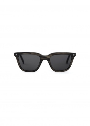 Monokel Eyewear Robotnik Sunglasses - Green Demi With Solid Grey Lenses