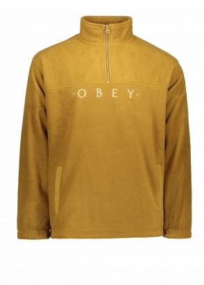 Obey Mountain Mock Zip - Tapenade