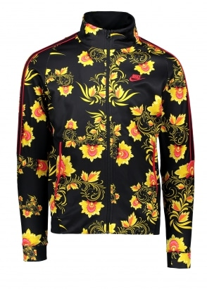 Nike Apparel N98 Jacket - Black / Yellow