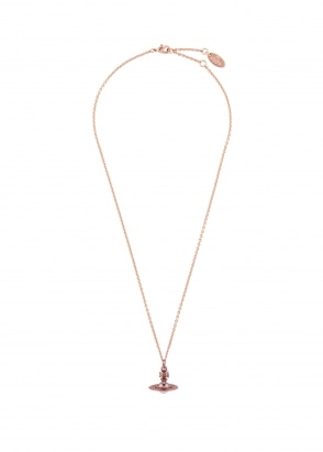 Vivienne Westwood Accessories New Tiny Orb Pendant - Pink Gold