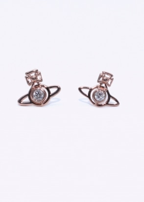 Vivienne Westwood Accessories Nora Earrings - Pink Gold