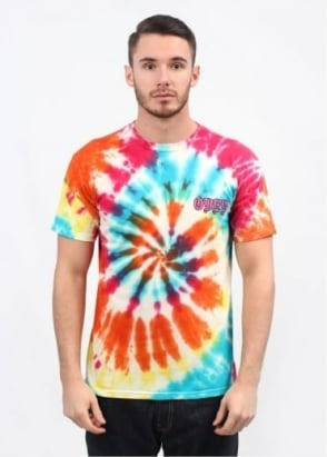 Obey No Mercy Spiral T-Shirt - Rainbow
