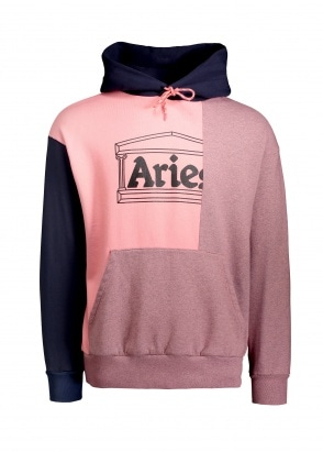 Aries  OD Colourblock Temple Hoodie - Pink