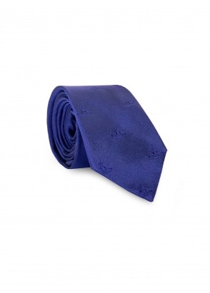 Vivienne Westwood Accessories Orb Logo Tie - Royal Blue