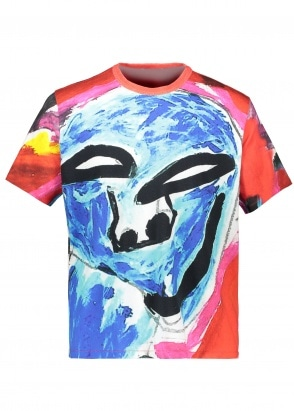 Our Legacy New Box T-Shirt - Voodoo Face Print