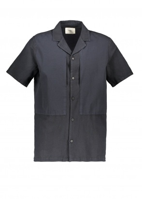 Folk Overlay SS Shirt - Soft Black
