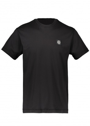 Stone Island Patch Logo Tee - Black