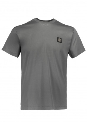 Stone Island Patch Logo Tee - Dark Grey