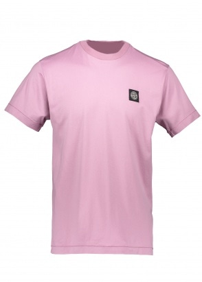 Stone Island Patch Logo Tee - Rose Quartz