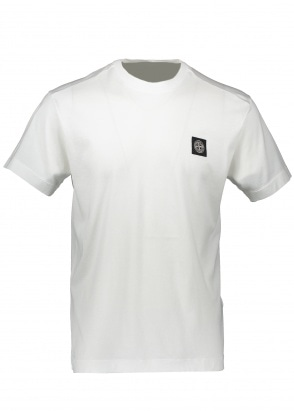 Stone Island Patch Logo Tee - White