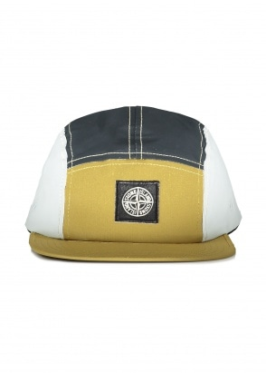 Stone Island Patch Panel Cap - Mustard