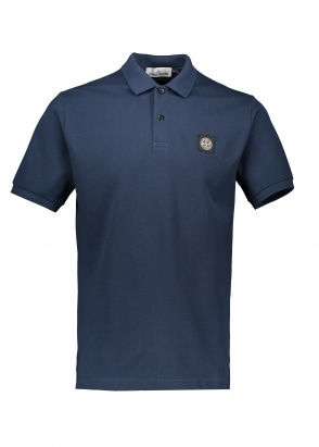 Stone Island Patch Polo Shirt - Marine Blue