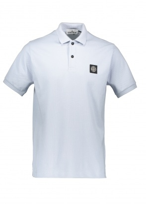 Stone Island Patch Polo Shirt - Sky Blue