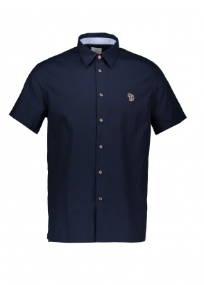 Paul Smith Zebra Casual Shirt - Inky Blue