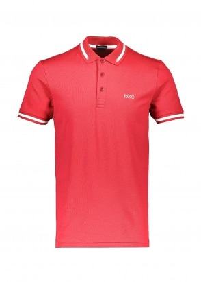 Boss Paule Polo Shirt - Medium Red