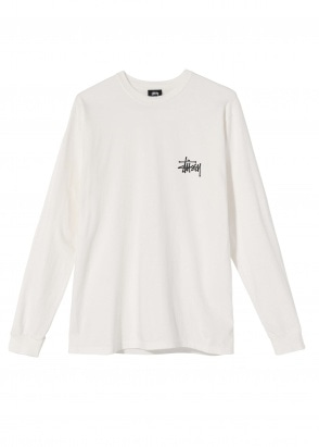 Stussy Peace Pot Pig. Dyed LS Tee - Natural