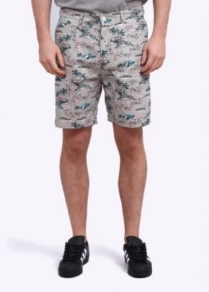 Penfield Grafton Tropical Shorts - Grey