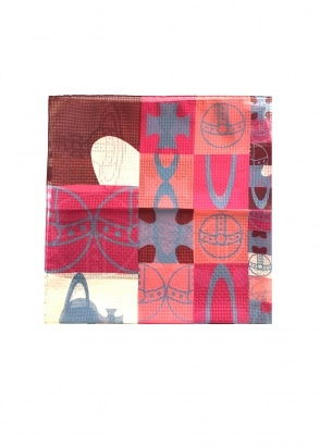 Vivienne Westwood Accessories Pocket Square 70 x 70  -Oxblood