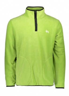Stussy Polar Fleece Half Zip - Lime