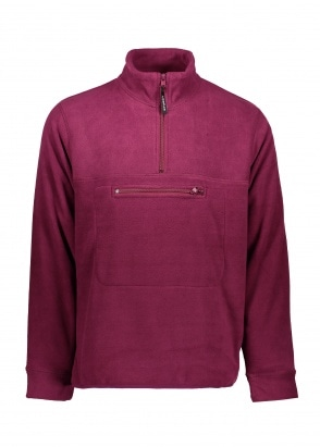 Stussy Polar Fleece Mock Neck - Berry