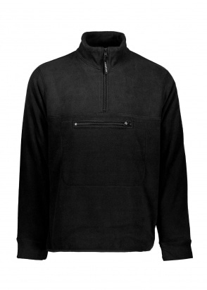 Stussy Polar Fleece Mock Neck - Black