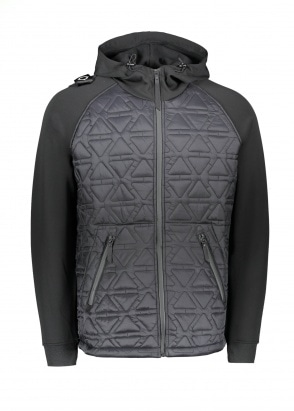 MA.STRUM Polygon Quilt Tech Fleece - Jet Black