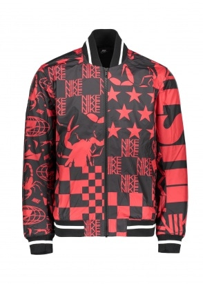Nike Apparel Printed Jacket - Black / Red