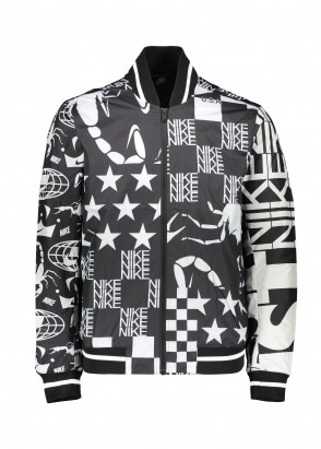 Nike Apparel Printed Jacket - Black / White