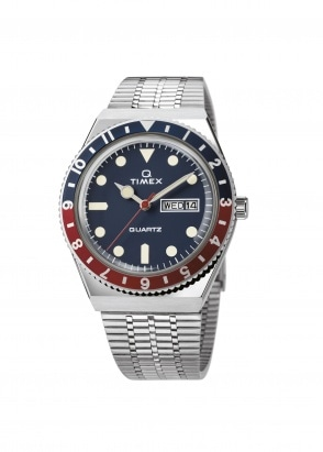Timex Q Diver Watch Reissue - Steel / Blue