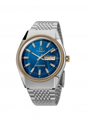 Timex Q Falcon Eye - Steel / Blue