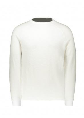 Beams Plus Raglan Crew - White