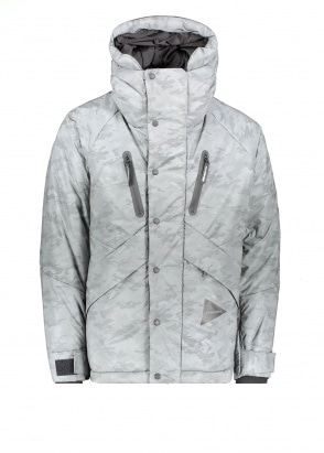 And Wander  Reflective Primaloft Jacket - Silver