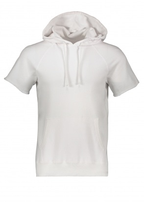 Reigning Champ Terry Cut Off Hoodie - White