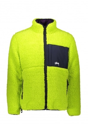 Stussy Rev. Micro Fleece Jacket - Lime