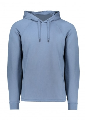 Folk Rivet Hoodie - Denim Blue