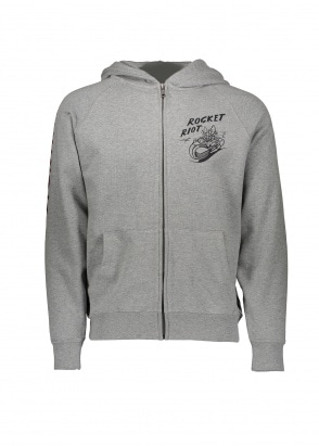 Billionaire Boys Club Rocket Riot Zip Hood - Heather Grey