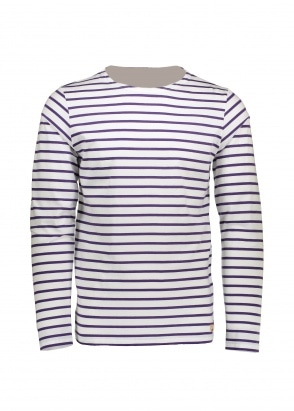 Armor Lux Sailor Shirt LS - White / Violet