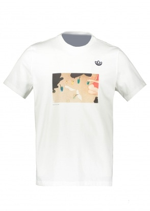 adidas Originals Apparel Samstag Photo T-Shirt - White