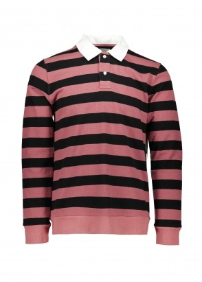 Sanders Stripe LS Tee - Light Plum