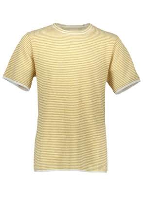 Saturdays NYC Brandon Stripe SS Shirt - Dusty Amber