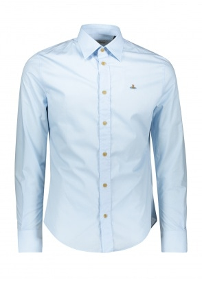 Vivienne Westwood Slim Shirt - Light Blue