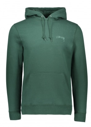 Stussy Smooth Stock Hood - Dark Forest Green