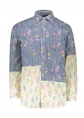 Engineered Garments Spread Collar Shirt - Navy Floral