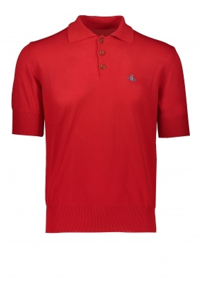 Vivienne Westwood Mens Spring Polo - Red