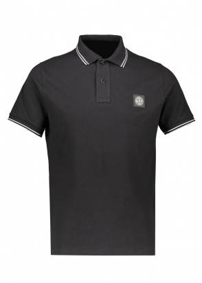 Stone Island SS Badge Polo - Black