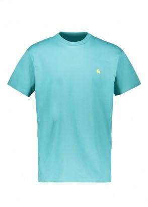 Carhartt WIP SS Chase T-Shirt - Turquoise