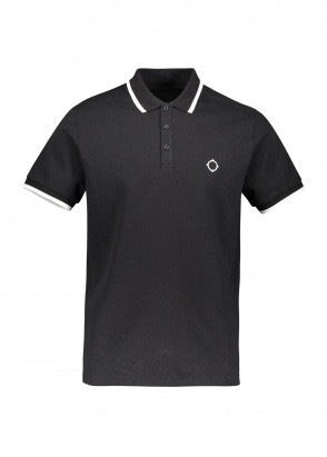 MA.STRUM SS Jersey Polo - Jet Black