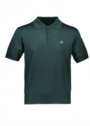 Vivienne Westwood Mens SS Knit Polo 650 - Dark Green